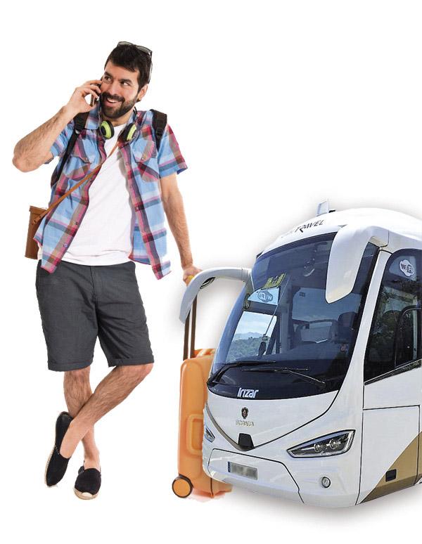 Alquiler de autobuses para Agencias de viajes